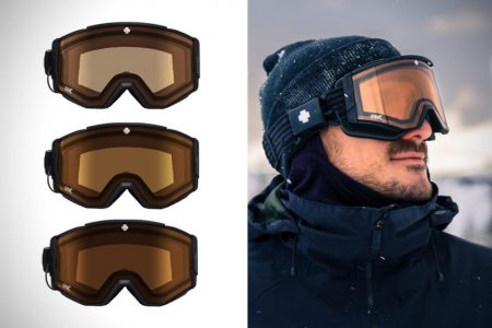 Spy Ace EC electronic ski goggles change tints with the tap of a button