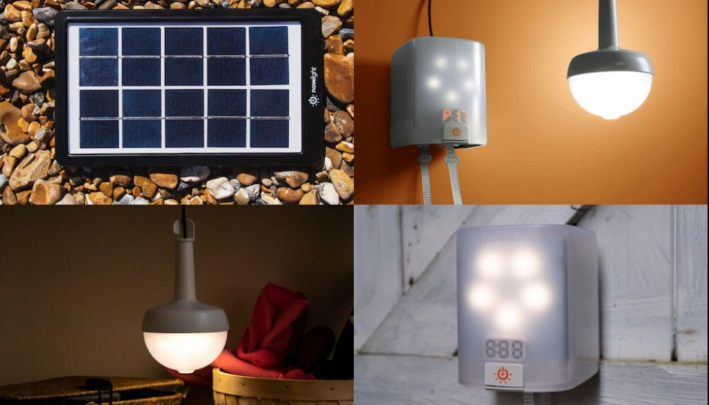 Deciwatt NowLight - Sun and Cord Powered Lamp for Off-Grid Energy Independence